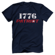 Load image into Gallery viewer, Print Brains Bella + Canvas US Made Cotton Crew / Navy / XS 1776 Star Patriot Tee (6 Variants)