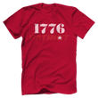 Load image into Gallery viewer, Print Brains Bella + Canvas US Made Cotton Crew / Red / XS 1776 Star Patriot Tee (6 Variants)