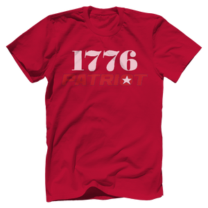 Print Brains Bella + Canvas US Made Cotton Crew / Red / XS 1776 Star Patriot Tee (6 Variants)