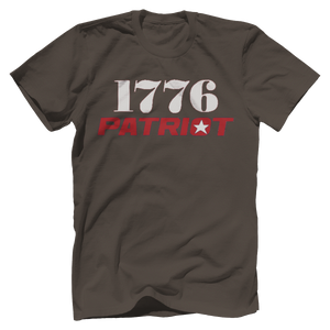 Print Brains Bella + Canvas US Made Cotton Crew / Warm Gray / XS 1776 Star Patriot Tee (6 Variants)
