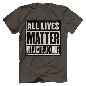 Print Brains Bella + Canvas US Made Cotton Crew / Warm Gray / XS ALL Lives Matter Not Just Black Ones Tee (6 Variants)