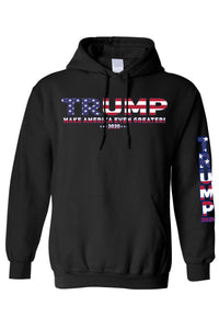 American Patriots Apparel Black / 4XL / FRONT Unisex Trump USA Make America Even Greater Pullover Hoodie