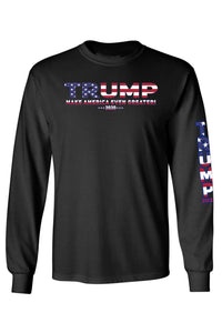 American Patriots Apparel Black / LARGE / FRONT Unisex Trump USA Make America Even Greater Long Sleeve Shirt