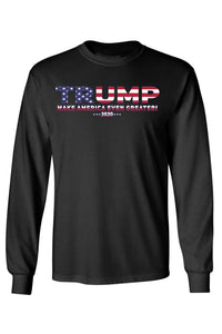American Patriots Apparel Black / MEDIUM / FRONT Unisex Trump USA Make America Even Greater Long Sleeve Shirt