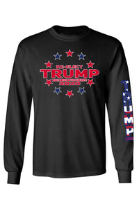 American Patriots Apparel Black / SMALL / FRONT Unisex Trump Stars & Stripes Long Sleeve Shirt