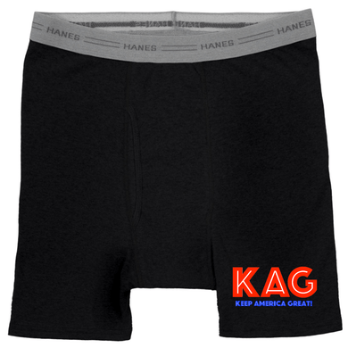 American Patriots Apparel Black / X-Large KAG Hanes Black Boxer Brief Underwear