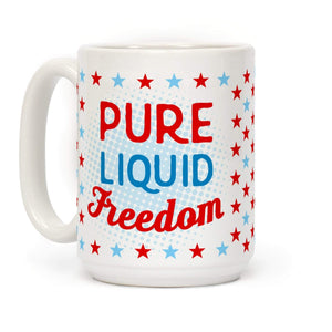 LookHUMAN Coffee Mug 15 Ounce Pure Liquid Freedom Ceramic Coffee Mug