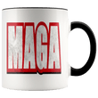 Load image into Gallery viewer, teelaunch Coffee Mug Black / 11 oz. 11 oz. MAGA Ceramic Accent Coffee Mug (7 Variants)