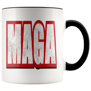 teelaunch Coffee Mug Black / 11 oz. 11 oz. MAGA Ceramic Accent Coffee Mug (7 Variants)