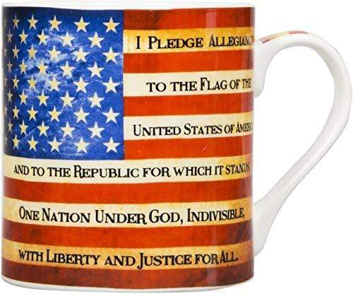 Home Essentials Coffee Mug Default American Flag Pledge of Allegiance One Nation Under God Coffee Mug