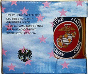 Ruffin Coffee Mug Default Red US Marine Corps Mug With Marines Double Sided Polyester Flag