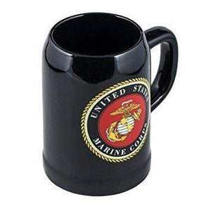 United States Marine Coffee Mug Default US Marine Corps Decal Logo Black 16.9 Ounce Stoneware Coffee Mug