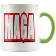 Load image into Gallery viewer, teelaunch Coffee Mug Green / 11 oz. 11 oz. MAGA Ceramic Accent Coffee Mug (7 Variants)