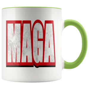 teelaunch Coffee Mug Green / 11 oz. 11 oz. MAGA Ceramic Accent Coffee Mug (7 Variants)