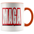 Load image into Gallery viewer, teelaunch Coffee Mug Orange / 11 oz. 11 oz. MAGA Ceramic Accent Coffee Mug (7 Variants)