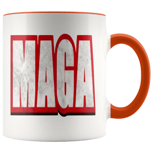 teelaunch Coffee Mug Orange / 11 oz. 11 oz. MAGA Ceramic Accent Coffee Mug (7 Variants)