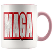 Load image into Gallery viewer, teelaunch Coffee Mug Pink / 11 oz. 11 oz. MAGA Ceramic Accent Coffee Mug (7 Variants)