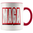 Load image into Gallery viewer, teelaunch Coffee Mug Red / 11 oz. 11 oz. MAGA Ceramic Accent Coffee Mug (7 Variants)
