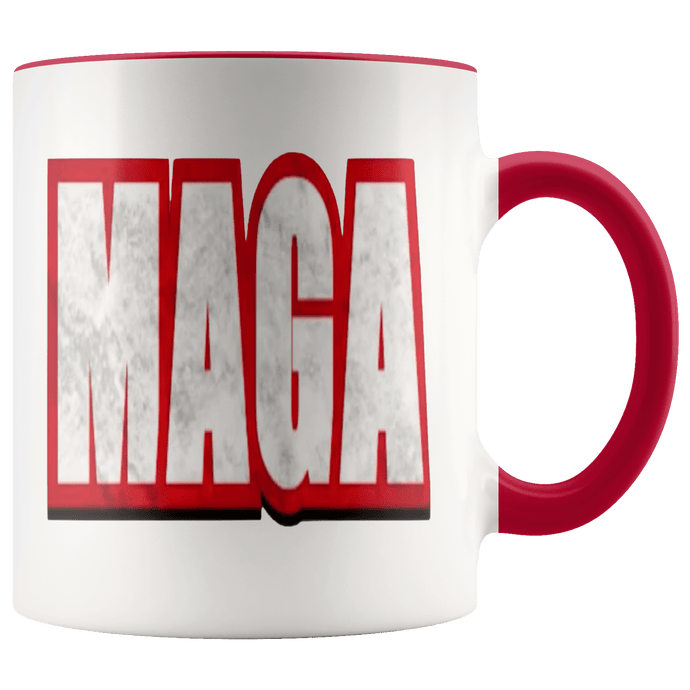 teelaunch Coffee Mug Red / 11 oz. 11 oz. MAGA Ceramic Accent Coffee Mug (7 Variants)