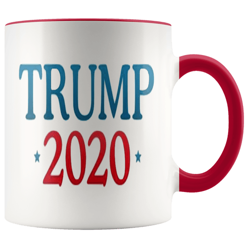 teelaunch Coffee Mug Red / 11 oz. 11 oz. Trump 2020 Ceramic Accent Coffee Mug (7 Variants)