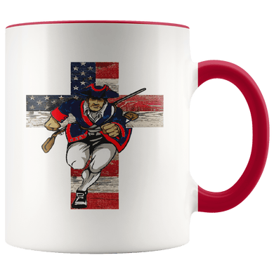 teelaunch Coffee Mug Red / 11 oz. American Patriots for God and Country 11 oz. Ceramic Accent Coffee Mug (7 Variants)