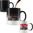 Load image into Gallery viewer, teelaunch Coffee Mug Red/Black / 11oz / White Truth Matters 11oz Color Changing Coffee Mug (5 Variants)