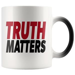 teelaunch Coffee Mug Truth Matters 11oz Color Changing Coffee Mug (5 Variants)