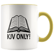 Load image into Gallery viewer, teelaunch Coffee Mug Yellow / 11 oz. 11 oz. KJV Only Ceramic Accent Coffee Mug (7 Variants)