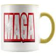 Load image into Gallery viewer, teelaunch Coffee Mug Yellow / 11 oz. 11 oz. MAGA Ceramic Accent Coffee Mug (7 Variants)