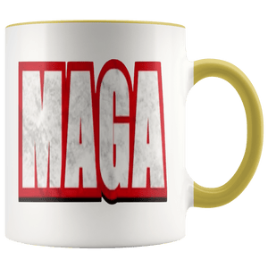 teelaunch Coffee Mug Yellow / 11 oz. 11 oz. MAGA Ceramic Accent Coffee Mug (7 Variants)