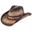 Load image into Gallery viewer, Peter Grimm Cowboy Hat Brown Stain / OSFM / Drifters Peter Grimm Hogan Drifter Hat