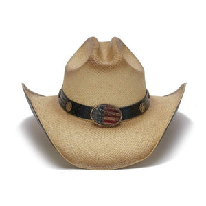 Hats Unlimited Cowboy Hat Flying Eagle Brim USA Flag Cowboy Hat
