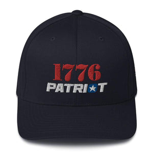 American Patriots Apparel Dark Navy / S/M 1776 (Red) Patriot (White) Flexfit Structured Twill Hat (7 Variants)