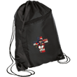 Load image into Gallery viewer, CustomCat Drawstring Bag Black/Black / One Size American Patriots for God and Country Patriot Cross BG80 Colorblock Cinch Pack (5 Variants)