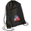 Load image into Gallery viewer, CustomCat Drawstring Bag Black/Black / One Size God Bless The USA BG80 Colorblock Cinch Pack (5 Variants)