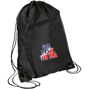 CustomCat Drawstring Bag Black/Black / One Size God Bless The USA BG80 Colorblock Cinch Pack (5 Variants)
