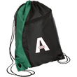 Load image into Gallery viewer, CustomCat Drawstring Bag Black/Hunter Green / One Size A'MERICA BG80 Colorblock Cinch Pack (5 Variants)