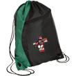 Load image into Gallery viewer, CustomCat Drawstring Bag Black/Hunter Green / One Size American Patriots for God and Country Patriot Cross BG80 Colorblock Cinch Pack (5 Variants)