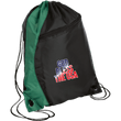 Load image into Gallery viewer, CustomCat Drawstring Bag Black/Hunter Green / One Size God Bless The USA BG80 Colorblock Cinch Pack (5 Variants)