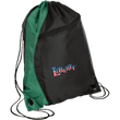 Load image into Gallery viewer, CustomCat Drawstring Bag Black/Hunter Green / One Size LIBERTY BG80 Colorblock Cinch Pack (5 Variants)