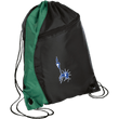 Load image into Gallery viewer, CustomCat Drawstring Bag Black/Hunter Green / One Size Statue of Liberty BG80 Colorblock Cinch Pack (5 Variants)