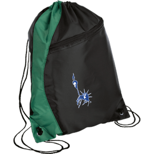 CustomCat Drawstring Bag Black/Hunter Green / One Size Statue of Liberty BG80 Colorblock Cinch Pack (5 Variants)