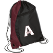 Load image into Gallery viewer, CustomCat Drawstring Bag Black/Maroon / One Size A'MERICA BG80 Colorblock Cinch Pack (5 Variants)