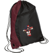 Load image into Gallery viewer, CustomCat Drawstring Bag Black/Maroon / One Size American Patriots for God and Country Patriot Cross BG80 Colorblock Cinch Pack (5 Variants)
