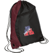 Load image into Gallery viewer, CustomCat Drawstring Bag Black/Maroon / One Size God Bless The USA BG80 Colorblock Cinch Pack (5 Variants)