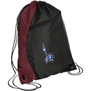 CustomCat Drawstring Bag Black/Maroon / One Size Statue of Liberty BG80 Colorblock Cinch Pack (5 Variants)