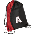 Load image into Gallery viewer, CustomCat Drawstring Bag Black/Red / One Size A'MERICA BG80 Colorblock Cinch Pack (5 Variants)