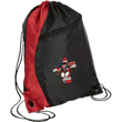 Load image into Gallery viewer, CustomCat Drawstring Bag Black/Red / One Size American Patriots for God and Country Patriot Cross BG80 Colorblock Cinch Pack (5 Variants)