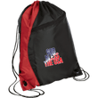 Load image into Gallery viewer, CustomCat Drawstring Bag Black/Red / One Size God Bless The USA BG80 Colorblock Cinch Pack (5 Variants)