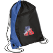 Load image into Gallery viewer, CustomCat Drawstring Bag Black/Royal / One Size God Bless The USA BG80 Colorblock Cinch Pack (5 Variants)
